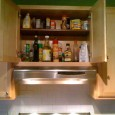 Ryan built a shelf last week. The cabinet above our stove is very tall. Like most everyone, it&#8217;s where we store Pam, oils, sugar, flour, cocoa, vanilla, etc. We have always had a hard time...