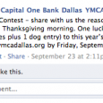A few weeks ago, the YMCA Dallas Turkey Trot posted this contest on their Facebook page… So, I entered. I sent in this story on the day of the deadline (which was my Dad's birthday)… […]
