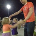 It takes a real man to say yes to his daughters when they ask him to dance in public! I love my man. Oh, to be this carefree!
