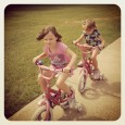 We went for a run a few mornings ago and then let the girls ride their bikes afterwards. They love to ride bikes at the trails. Their little legs get quite a workout! Towards the...